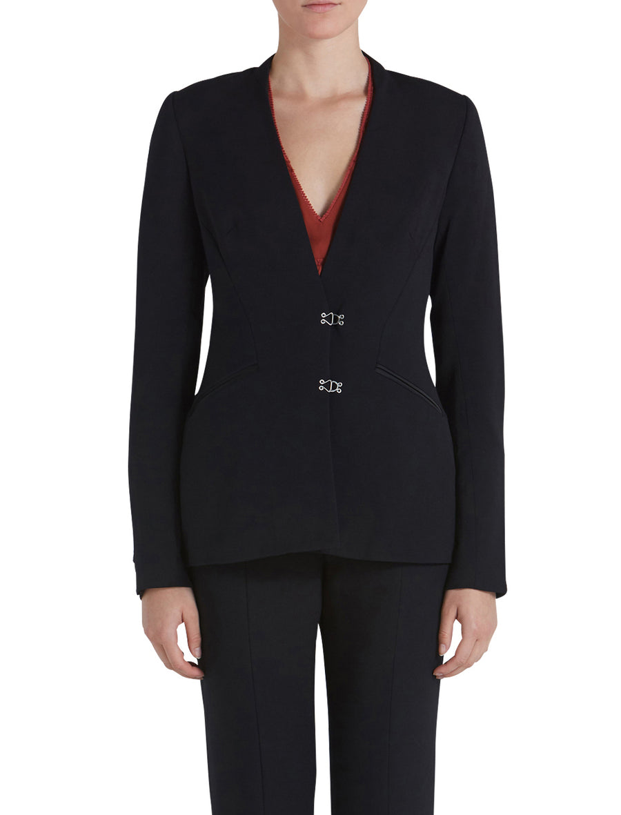 COMPACT STRETCH WOOL BISQUE BLAZER