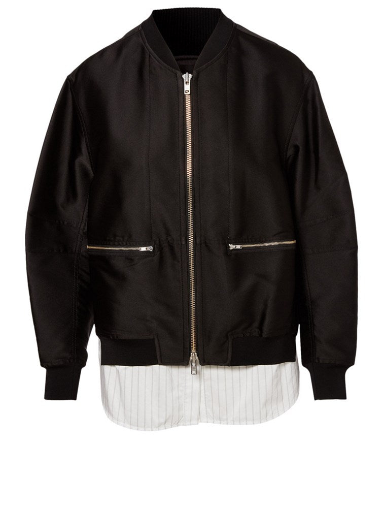 3.1 Phillip Lim Bomber With Underlay in Black from The New Trend