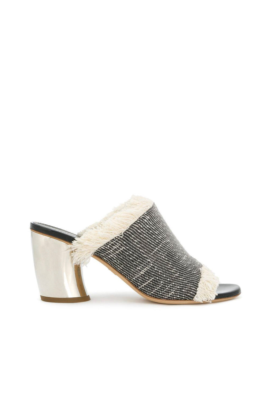 CANVAS RAFIA MULE
