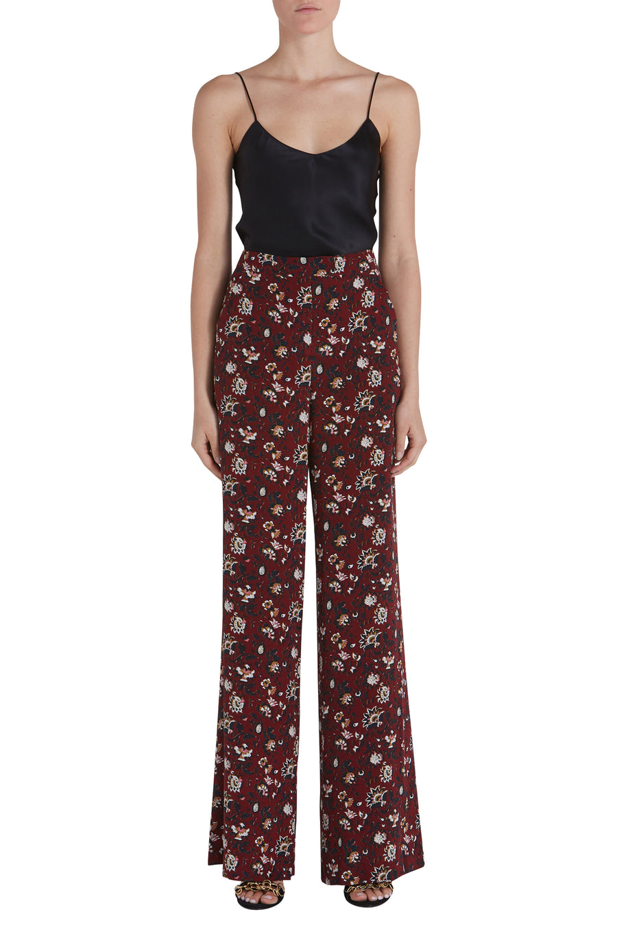 BEDFORD SILK PRINTED PANTS