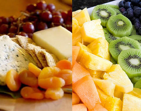 Combined Cheese and Fruit Platter
