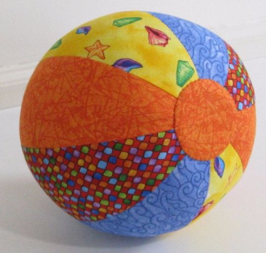 Quilted Baby Beach Ball - PDF Sewing Pattern