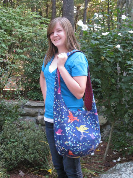 Reversible Boho Shoulder Bag - PDF Sewing Pattern