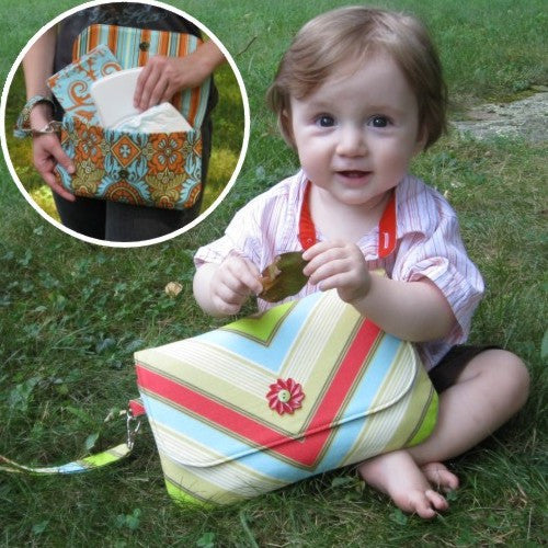 Grab 'n' Go Diaper Clutch - PDF Sewing Pattern