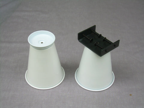 "A pair of Clamping Steel Bed Risers, 6"" Lift"