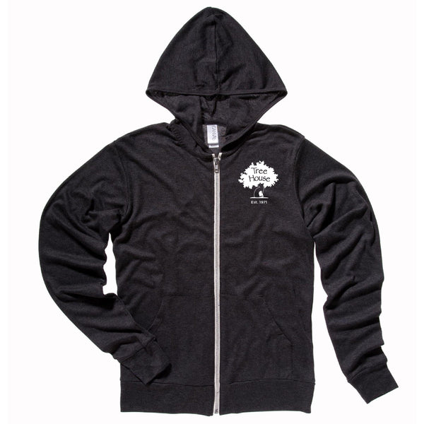 Charcoal Grey Lightweight Zip Up Hoodie