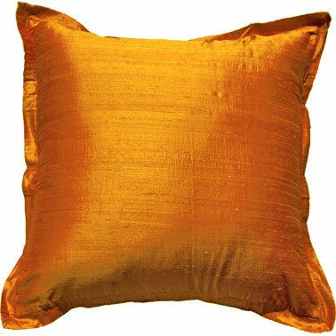 Dupion Orange Euro Cushion 64x64cm
