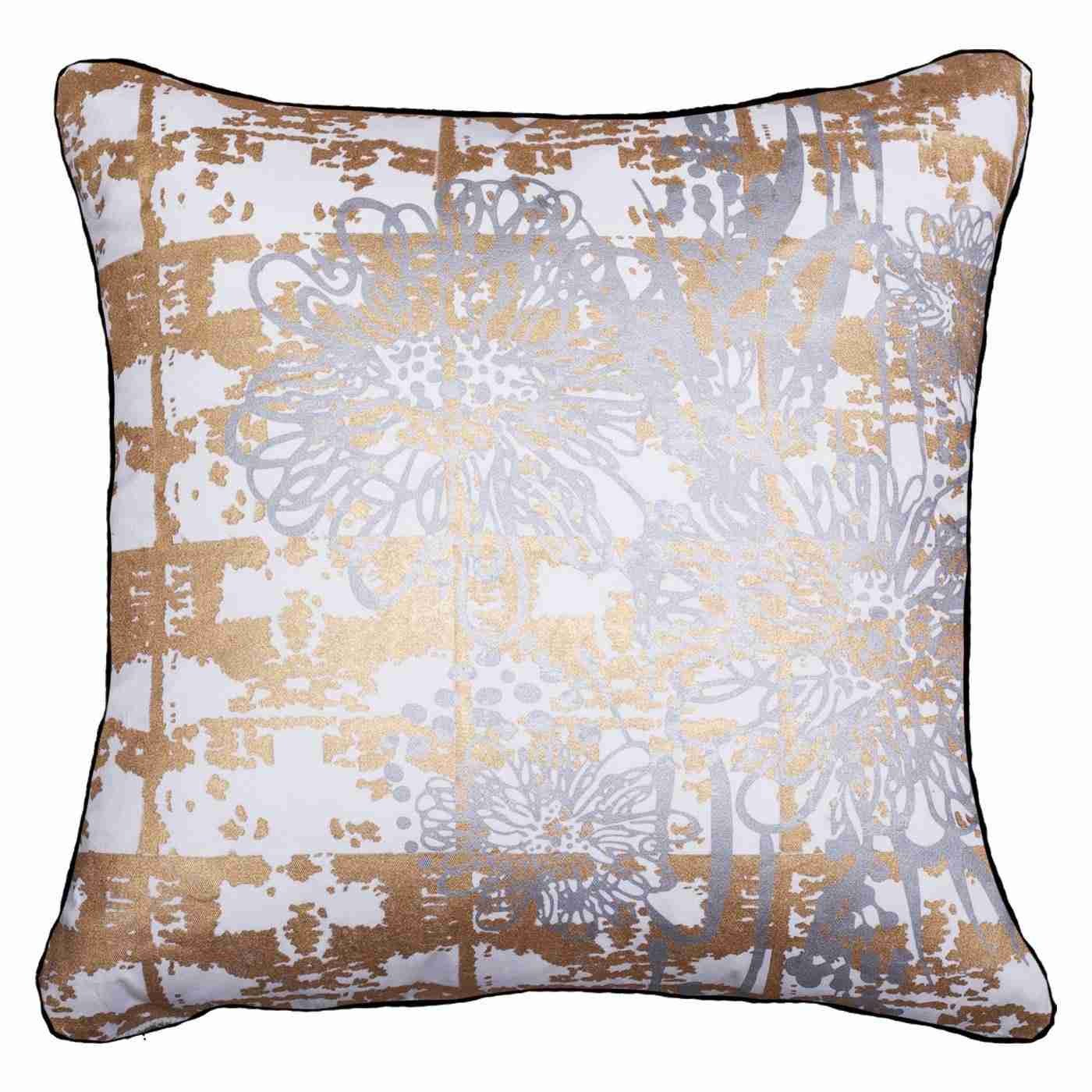 Grevillea Gold/ Silver Lounge Cushion 55x55cm