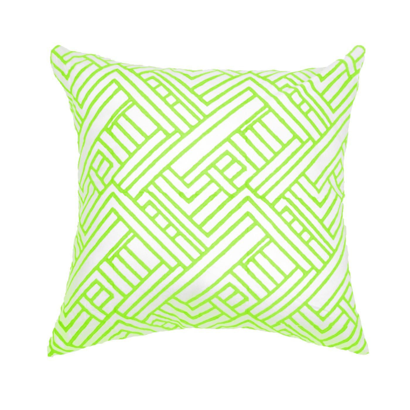 Hash Print Neon Lime Medium Cushion 50x50cm