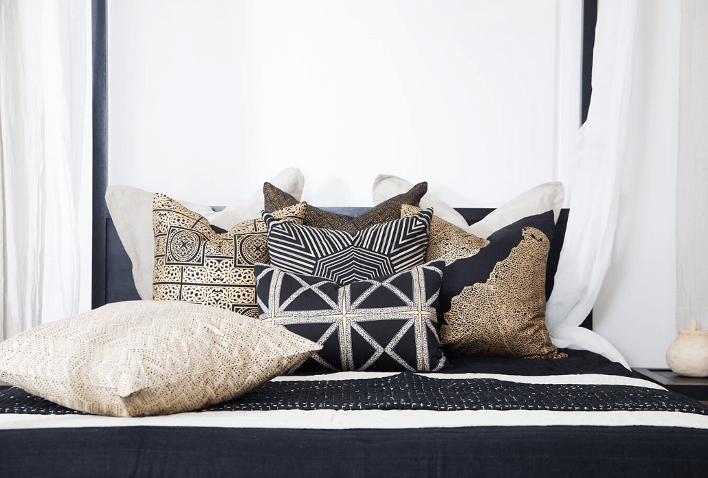 Parasail Black Lounge Cushion 55x55cm