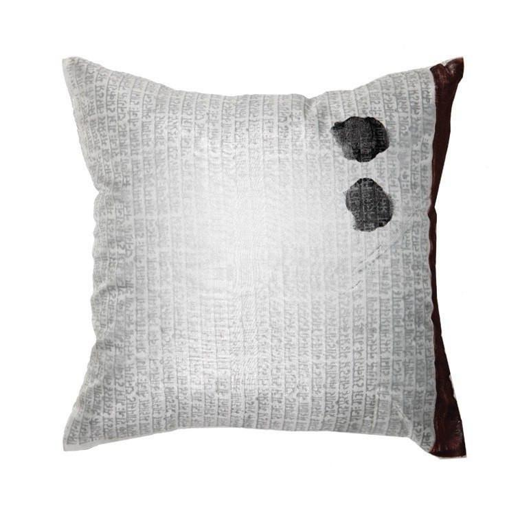 Sanskrit Silver Medium Cushion 50 x 50 cm