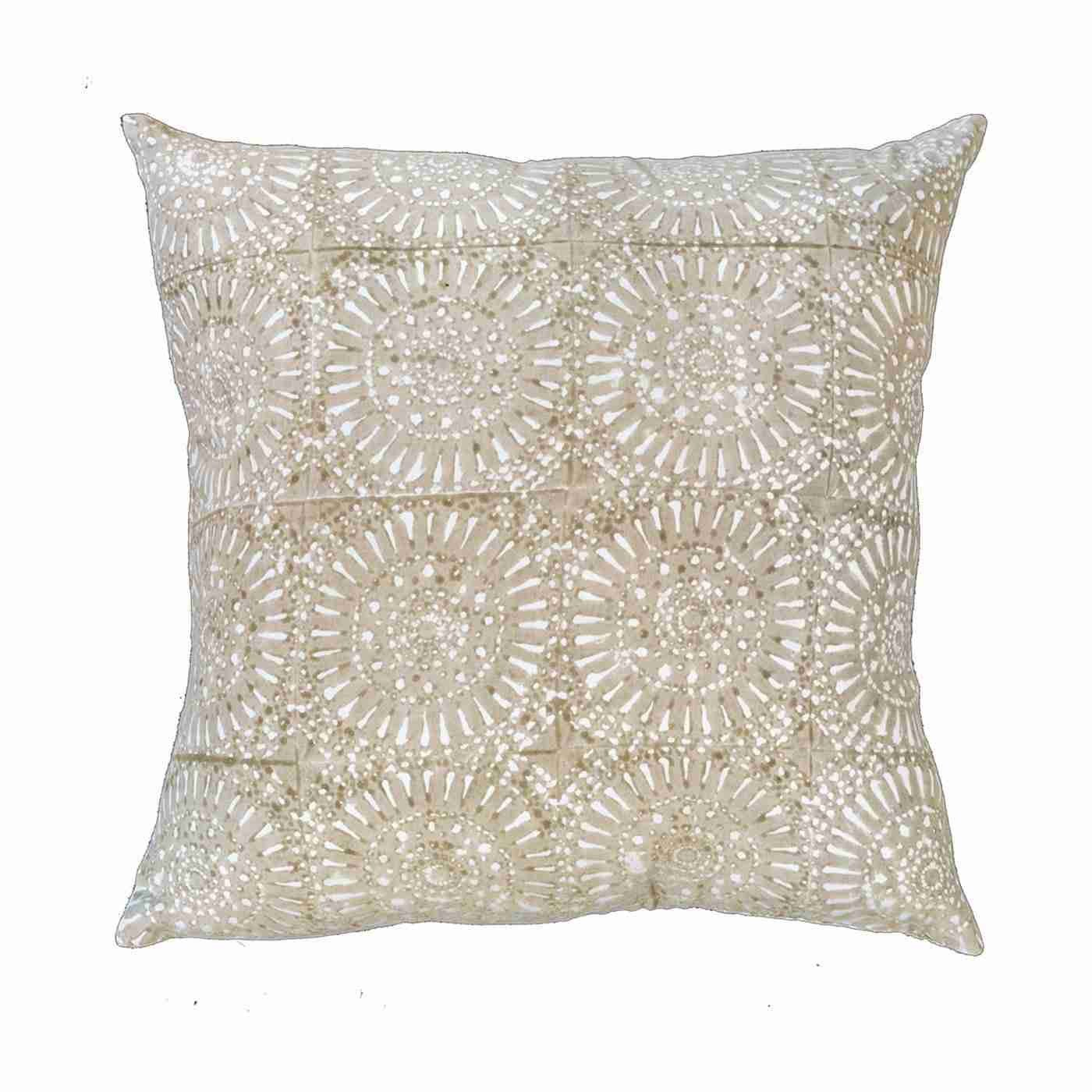 Sphere Print Beige Medium Cushion 50 x 50cm