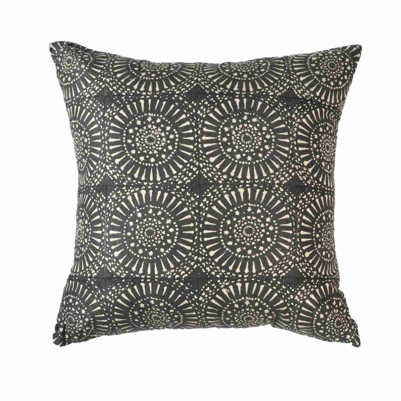 Sphere Print Black Medium cushion 50x50cm
