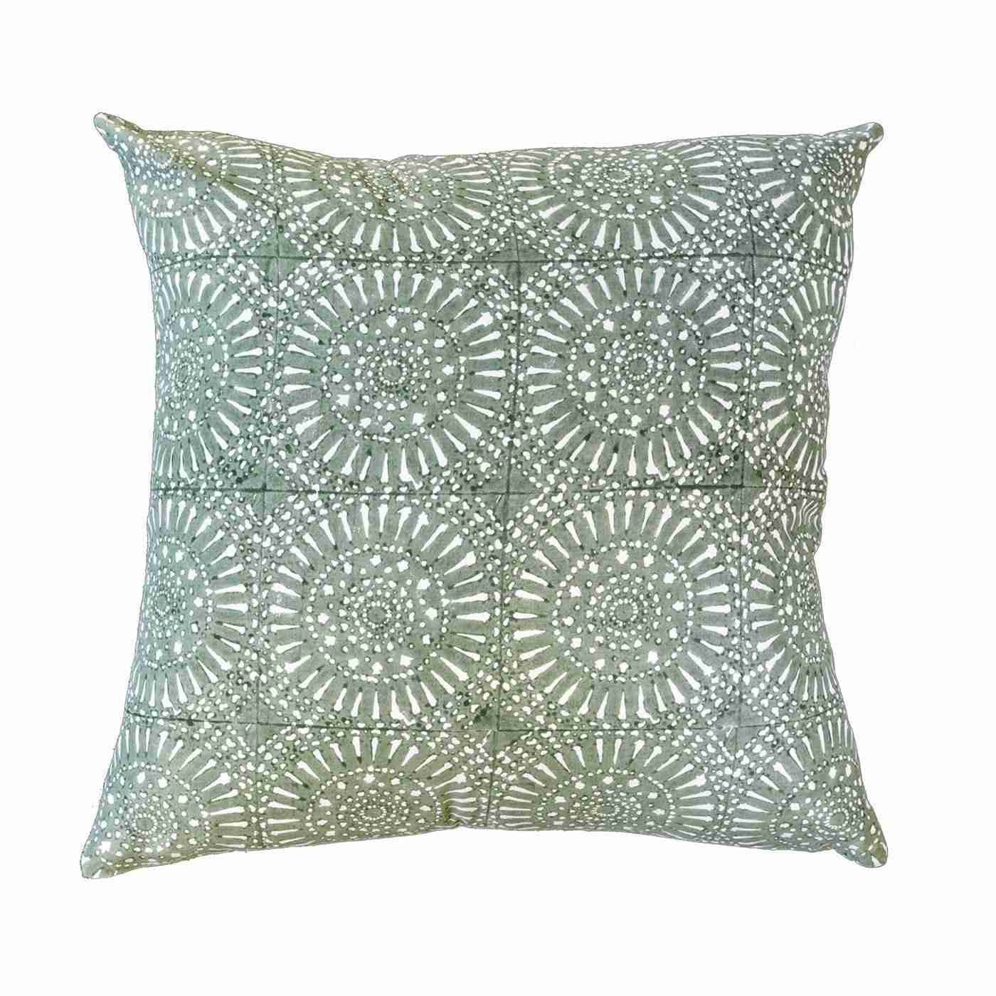 Sphere Print Celladon Medium Cushion 50cm x 50cm