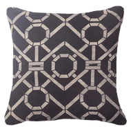 Bandhini Homewear Design Lounge Cushion Black / Primitive / 22 x 22 Bamboo Hedge Black Lounge Cushion 55 x 55 cm