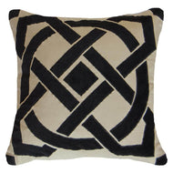 Bandhini Homewear Design Lounge Cushion Black / Primitive / 22 x 22 Dial Black Lounge Cushion 55 x 55 cm