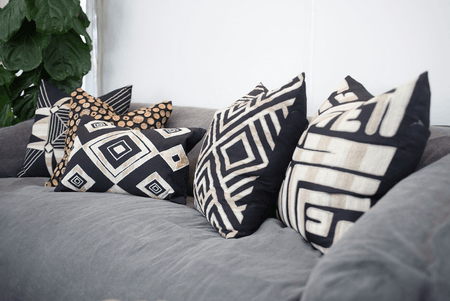 Bandhini Homewear Design Lounge Cushion Black / Primative / 22 x 22 Shoowa Arrow Black Lounge Cushion 55 x 55 cm