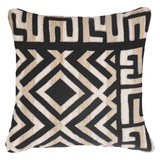 Bandhini Homewear Design Lounge Cushion Black / Exotic Dark / 22 x 22 Shoowa Kuba Black Lounge Cushion 55 x 55 cm