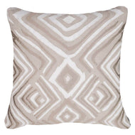 Bandhini Homewear Design Lounge Cushion Natural / Exotic Dark / 22 x 22 Ikat Zebra Natural Lounge Cushion 55x55cm