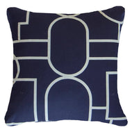Bandhini Homewear Design Lounge Cushion Navy / Primitive / 22 x 22 Bamboo Garden Navy Lounge Cushion 55 x 55 cm