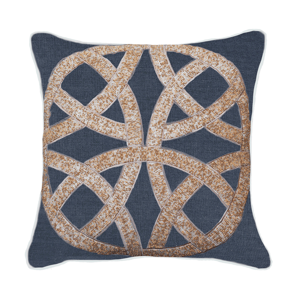 Bandhini Homewear Design Lounge Cushion Navy / Naval Sea / 22 x 22 Chanel Navy Medium Cushion 50x50cm