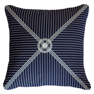 Bandhini Homewear Design Lounge Cushion Navy / Primitive / 22 x 22 Compass Navy Lounge Cushion 55 x 55 cm