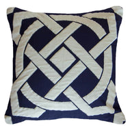 Bandhini Homewear Design Lounge Cushion Navy / Primitive / 22 x 22 Dial Navy Lounge Cushion 55 x 55 cm