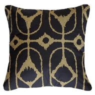 Bandhini Homewear Design Lounge Cushion Navy / Primitive / 22 x 22 Inner Ikat Diamond Black Lounge Cushion 55 x 55 cm