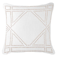Bandhini Homewear Design Lounge Cushion White / Exotic Dark / 22 x 22 Dot Frame White Lounge Cushion 55x55cm