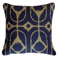 Bandhini Homewear Design Lounge Cushion White / Primitive / 22 x 22 Inner Ikat Diamond Navy Lounge Cushion 55 x 55 cm
