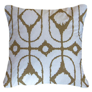 Bandhini Homewear Design Lounge Cushion White / Primitive / 22 x 22 Inner Ikat Diamond White Lounge Cushion 55 x 55 cm