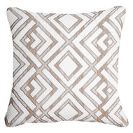 Shoowa Arrow White Lounge Cushion 55 x 55 cm