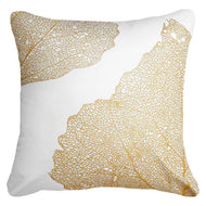 Bandhini Homewear Design Lounge Cushion Wind / Exotic Light / 22 x 22 Bone Leaf White Lounge Cushion 55x55cm