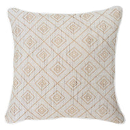 Bandhini Homewear Design Lounge Cushion Wind / Surf Tribe / 22 x 22 Weave Cross Natural Lounge Cushion 55x55cm