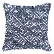 Bandhini Homewear Design Lounge Cushion Wind / Naval Sea / 22 x 22 Weave Cross Navy Lounge Cushion 55x55cm