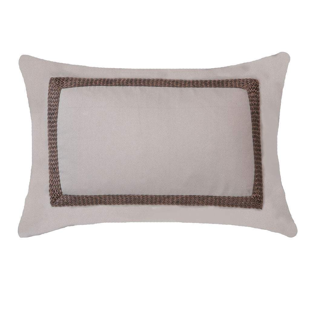 Bandhini Homewear Design Lumber Cushion Natural / Exotic Dark / 14 x 21 Braid Barbados Natural Lumber Cushion 35 x 53 cm