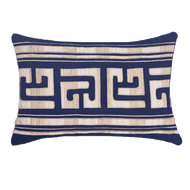 Bandhini Homewear Design Lumber Cushion Navy / Outdoor / 14 x 21 Shoowa Kuba Navy Lumber Cushion 35 x 53 cm