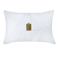 Bandhini Homewear Design Lumber Cushion White / Primitive / 22 x 22 Amulet Cairo White Lumber Cushion 35 x 53 cm