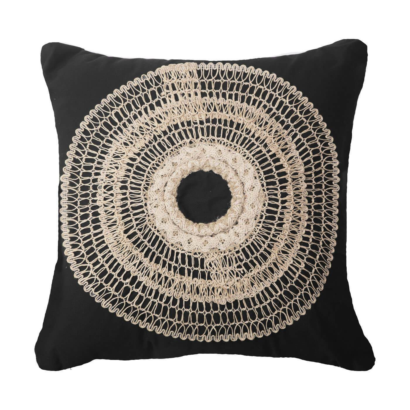 Bandhini Homewear Design Medium Cushion Black / Primitive / 20 x 20 African Armour Black Medium Cushion 50 x 50 cm