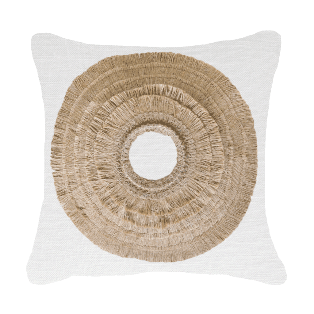 Bandhini Homewear Design Medium Cushion Earth Beige / Surf Tribe / 20 x 20 African Shield White Medium Cushion 50x50cm