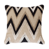 Bandhini Homewear Design Medium Cushion Earth Black / Primitive Tribe / 18 x 18 Ikat Zig Zag Medium Cushion 50x50cm