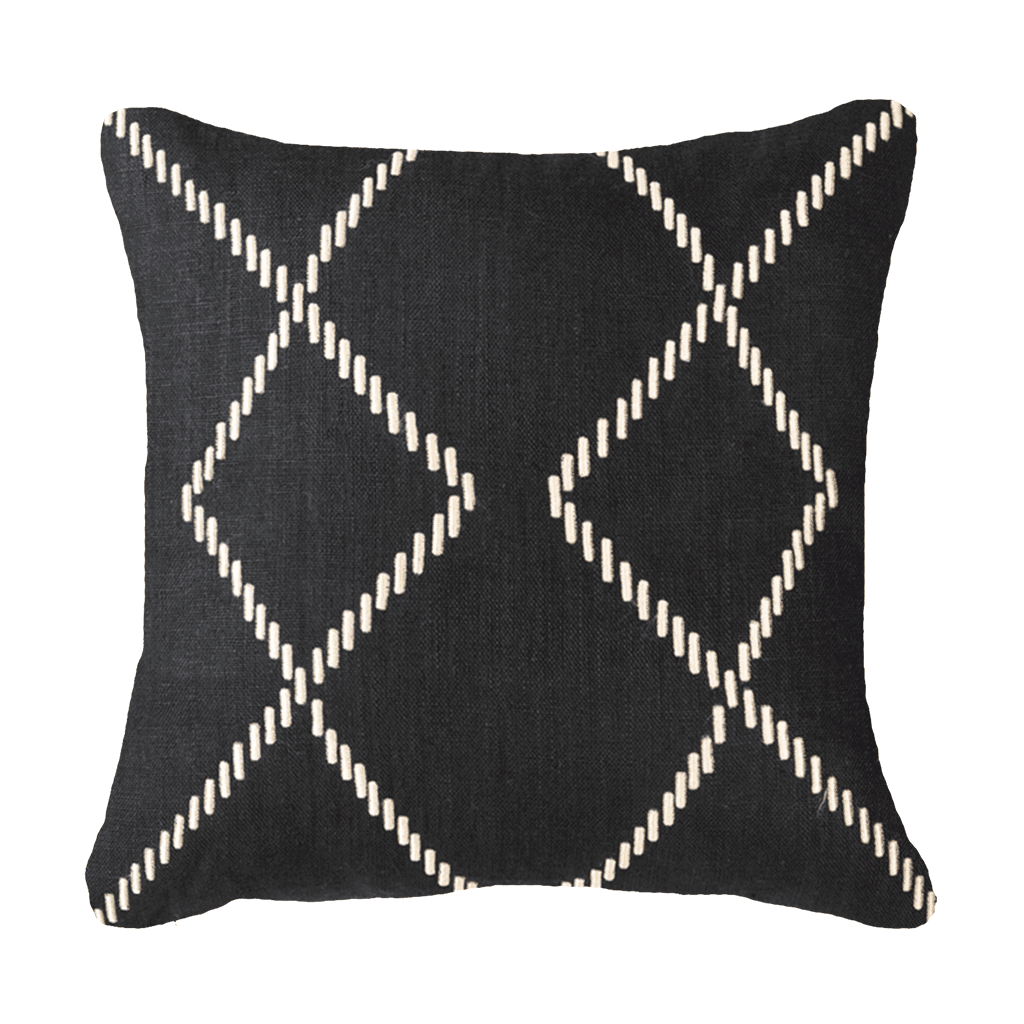 Bandhini Homewear Design Medium Cushion Earth Black / Exotic Dark / 20 x 20 Dot Crop Circles Black Medium Cushion 50x50cm