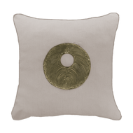Bandhini Homewear Design Medium Cushion Earth Linen / Surf Tribe / 18 x 18 Disc Copper Natural Medium cushion 50x50cm