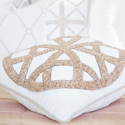 Bandhini Homewear Design Medium Cushion Natural / 18 x 18 Chanel Natural Medium Cushion 50x50cm