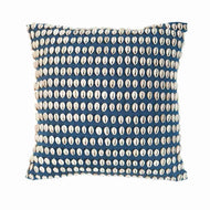 Bandhini Homewear Design Medium Cushion Navy / 18 x 18 Shell Kauri Navy Medium Cushion 50 x 50 cm