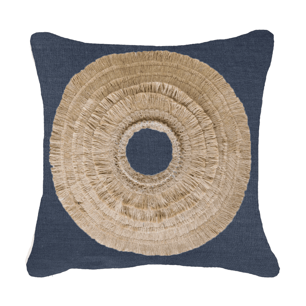 Bandhini Homewear Design Medium Cushion Navy / Naval Sea / 20 x 20 African Shield Navy Medium Cushion 50x50cm