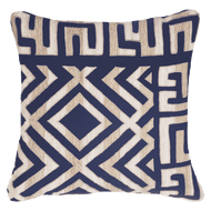 Bandhini Homewear Design Medium Cushion Navy / Outdoor / 22 x 22 Shoowa Kuba Navy Lounge Cushion 55 x 55 cm