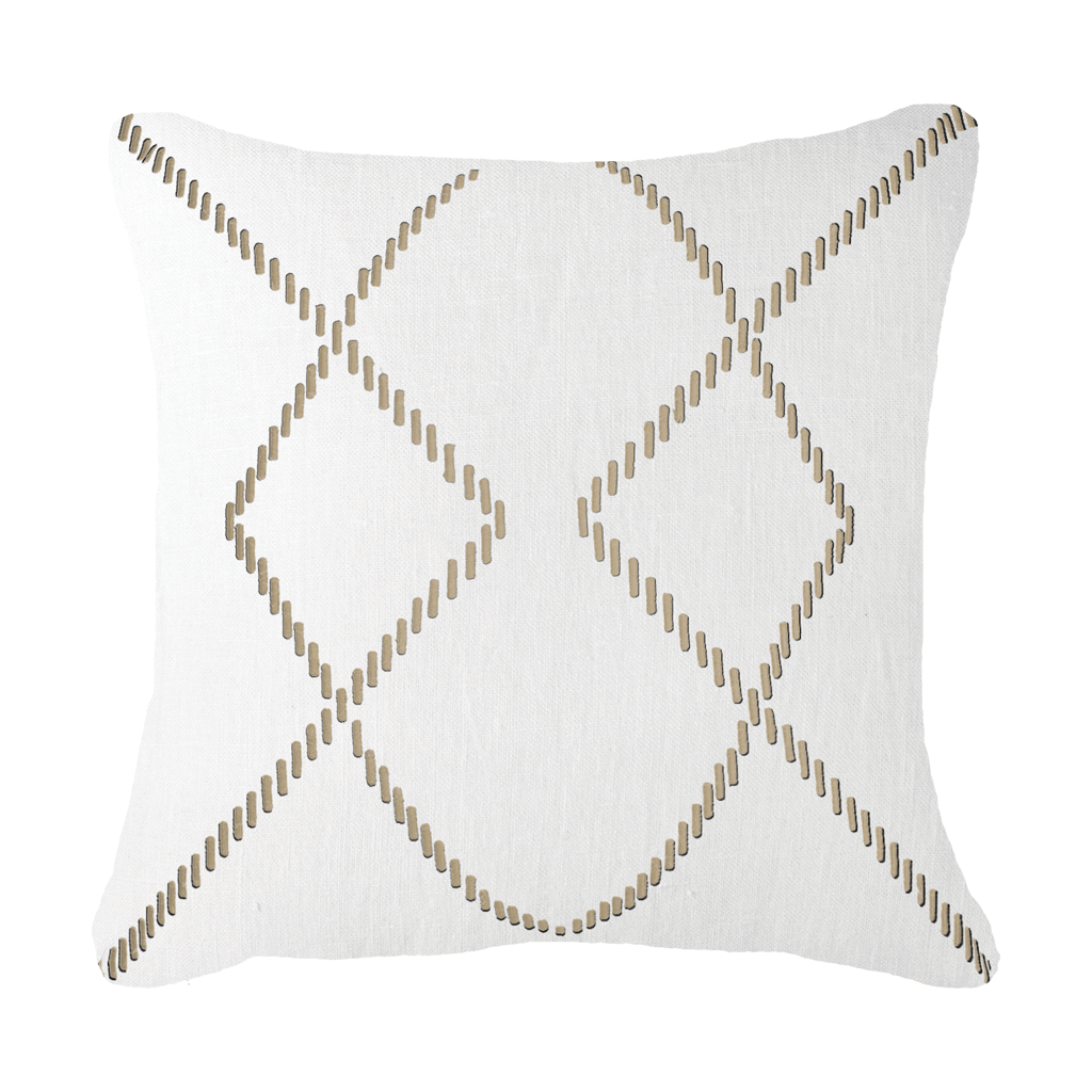 Bandhini Homewear Design Medium Cushion White / Primitive / 18 x 18 Dot Crop Circles White Medium Cushion 50x50cm