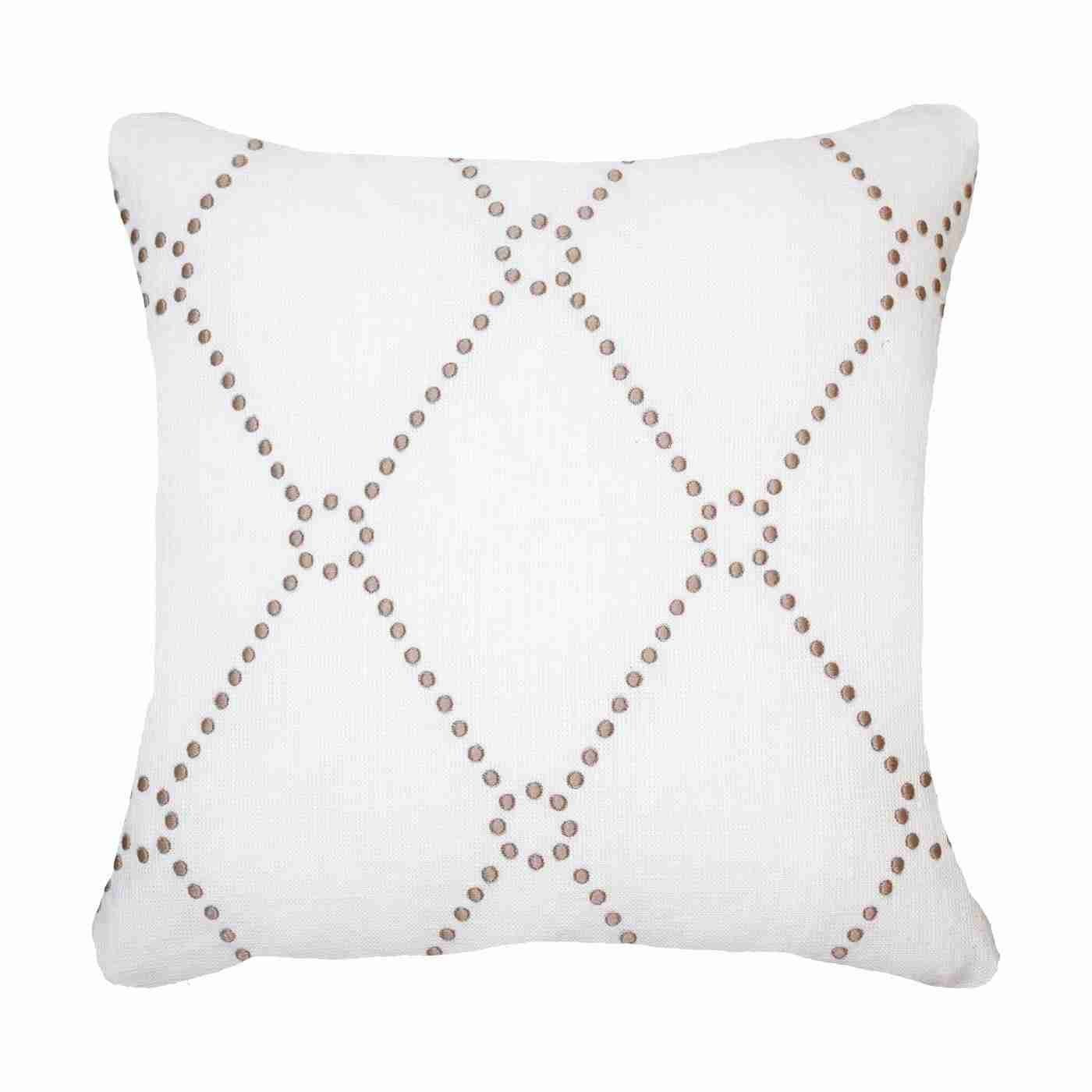 Bandhini Homewear Design Medium Cushion White / 19 x 19 Dot Diamond  White Medium 50x50cm