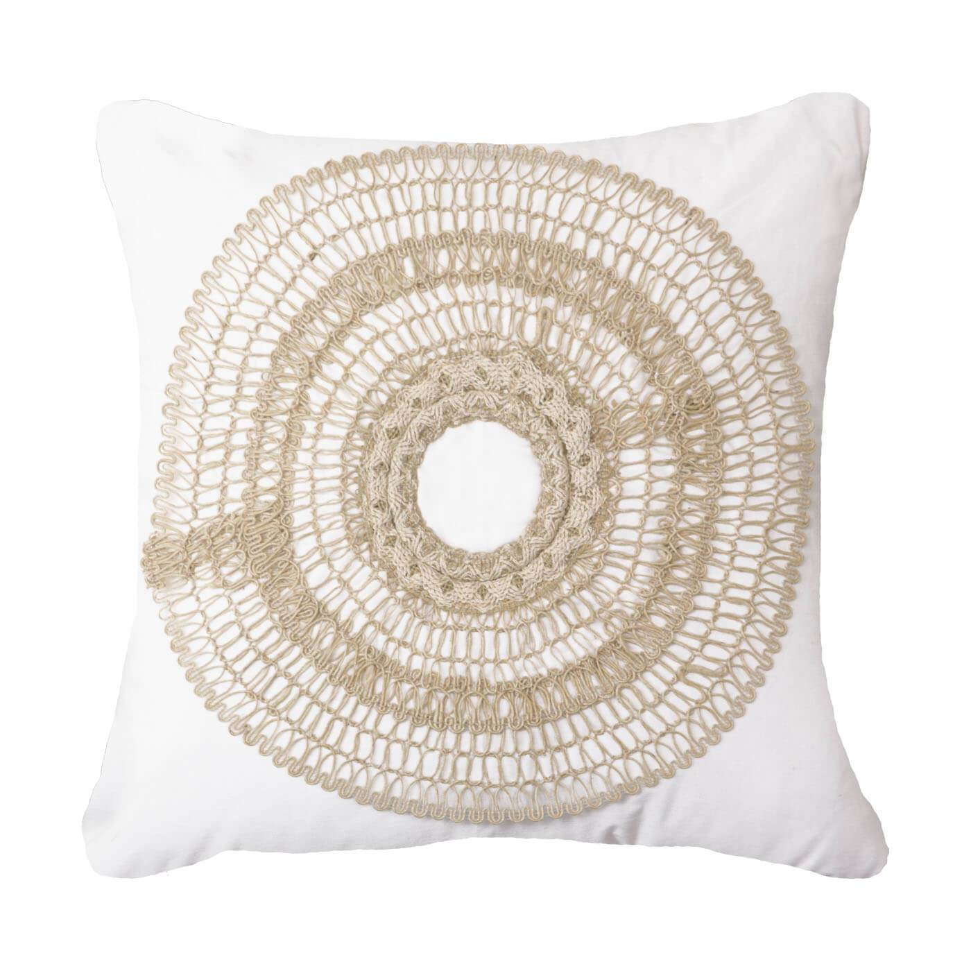 Bandhini Homewear Design Medium Cushion White / Surf / 20 x 20 African Armour White Medium Cushion 50x50cm